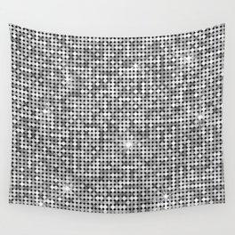 Shiny Disco Ball Silver Wall Tapestry