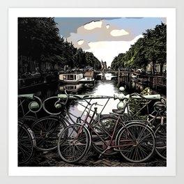 Canal @A- Art Print