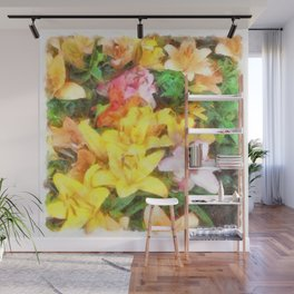 Lilies Love and Light Wall Mural