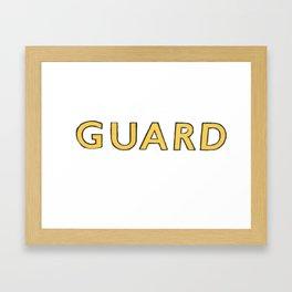 Guard Framed Art Print