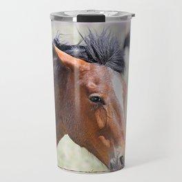 Horse Face Close Up Travel Mug