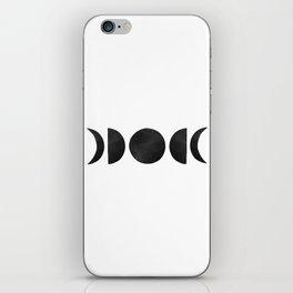 minimalist moon phases iPhone Skin