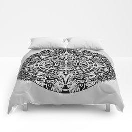 Mayan Calendar // Light Grey Comforters