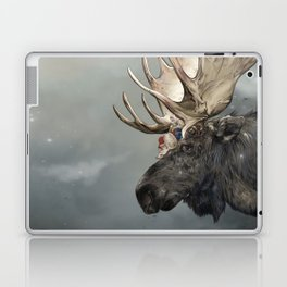 Eerik the Sami Shaman and Hirvi the Moose Laptop & iPad Skin