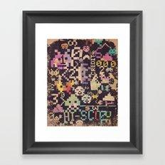 Galactic Pixel War Framed Art Print