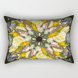 Flemish Floral Mandala 5 Rectangular Pillow