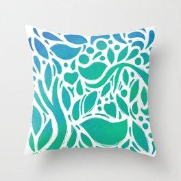 Ocean Garden Throw Pillow