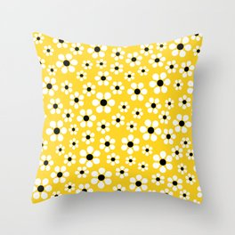 Dizzy Daisies - Yellow - more colors Throw Pillow