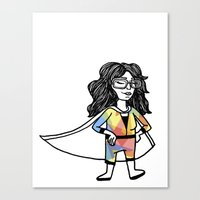 super hero Canvas Prints featuring Super Hero by Olivia Infante