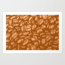 roasted coffee beans texture acrcb Art Print