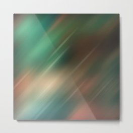 Turquoise brown blurred background Metal Print