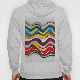 Colored Waves Hoody