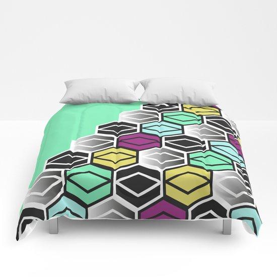 HexagonWall Comforters