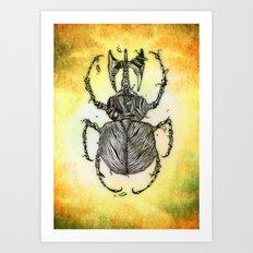 Sr Coprofago - Beetle shit Art Print