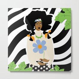 African American Bohemian Girl Metal Print