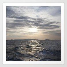 cambodian sea Art Print