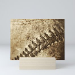 Vintage Baseball Memories 3 Mini Art Print