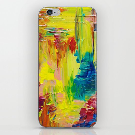 GOING THROUGH THE MOTIONS -  Stunning Saturated Bold Colors Modern Nature Abstract iPhone Skin