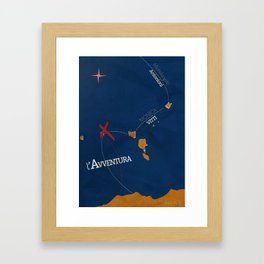 L'avventura, Monica Vitti, Michelangelo Antonioni, italian cinema, film, sea adventures, hollywood Framed Art Print