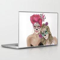 dia de los muertos Laptop & iPad Skins featuring Dia de los muertos by alicetischer