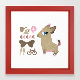 Hipsdeer (brown) Framed Art Print