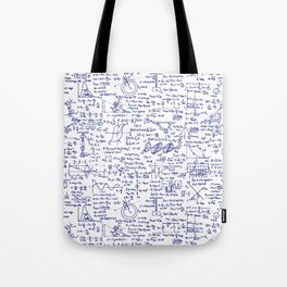 Physics Equations in Blue Pen Tote Bag