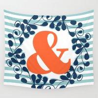 ampersand Wall Tapestries featuring ampersand by ArigigiPixel