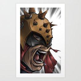 Battle Cry Art Print