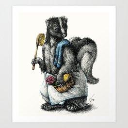 Portrait of Mr. Skunk Art Print
