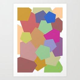Colliding Colors Art Print