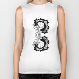 skulls and smoke toke Biker Tank