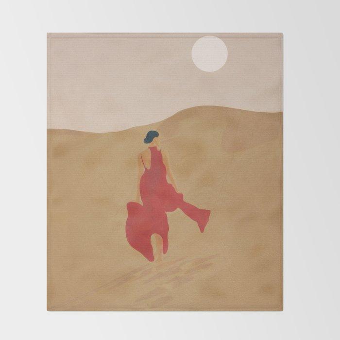 Dune Steps Throw Blanket