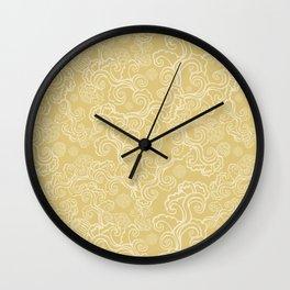 Golden Breeze Wall Clock