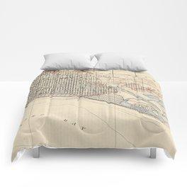 Vintage Map of Long Beach California (1923) Comforters