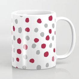University of Alabama colors dots polka dots minimal pattern college football sports Coffee Mug