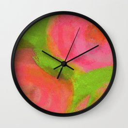 WILD PINK POPPIES Wall Clock