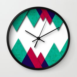 220 Anaglyph Wall Clock