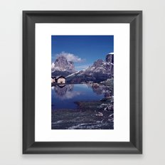 ESCAPE #2 #BLUE #Original - Peace in the Mountains Framed Art Print