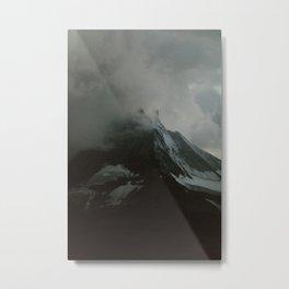 The Zermtt Matterhorn Under Storm Clouds Metal Print