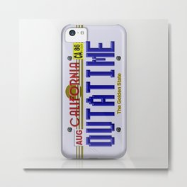 Back to the future California License Plat iPhone 4 4s 5 5s 5c, ipod, ipad, pillow case and tshirt Metal Print
