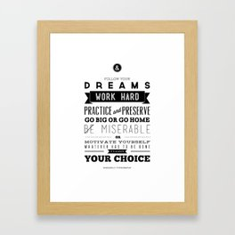 Sincerely Typography Framed Art Print