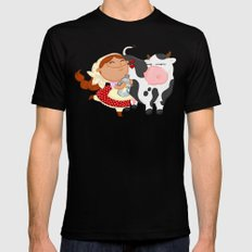 The milkmaid Black MEDIUM Mens Fitted Tee