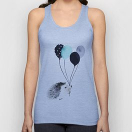 Hedgehog With Balloons Unisex Tank Top