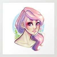 cyarin Art Prints featuring Cotton Candy by Cyarin