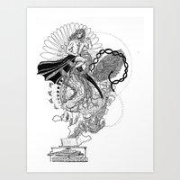 technology Art Prints featuring Technology by Christina Grace Vergona