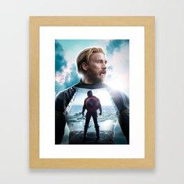 CaptainAmerica (A Hero's End) Framed Art Print