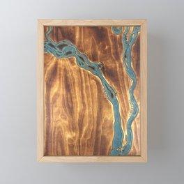 Epoxy River Tables - Bangladesh #1 Framed Mini Art Print
