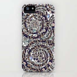 Year of the Snake mosaic iPhone Case