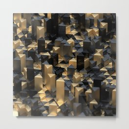 Cutting Corners Metal Print