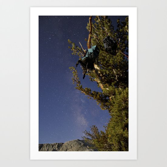 Undiscovered Backpackers Art Print